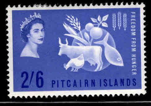 Pitcairn Islands Scott 35 MH* 1963 Freedom from Hunger stamp