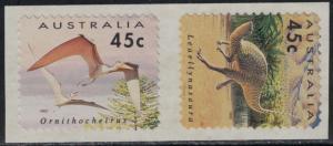 Australia SC1348-1349 Dinosaurs Pairs-Self Adhesive MNH 1993