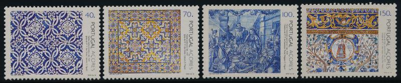Portugal - Azores 422-5 MNH Art, Tiles
