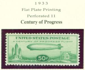 USA Scott C18 Babby Zepplin Century of Progress Airmail s...