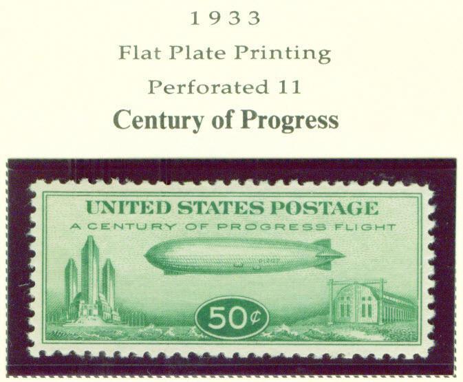USA Scott C18 Babby Zepplin Century of Progress Airmail s...