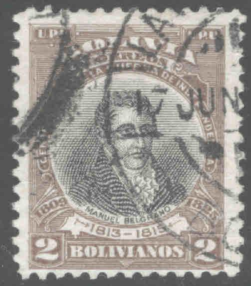 Bolivia Scott 89 Used 1909 stamp