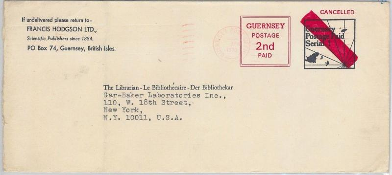 GUERNSEY  -  POSTAL HISTORY - POSTAL STATIONERY COVER - RARE!