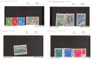 Lot of 45 Finland Used Stamps Scott Range 302 - 453 #137504 R