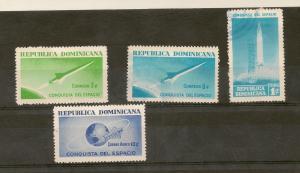 DOMINICAN REPUBLIC STAMPS MOG 2-10/USED CONQUISTA D. ESPACIO
