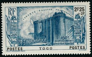 French Togo French Revolution (Sc B6) VF MNH...Don't Overpay...!