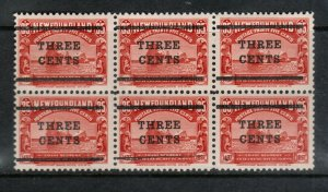 Newfoundland #130a Very Fine Mint Block Of Six **With Certificate**