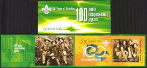 Ukraine 2004 Europa CEPT Centenary of the Scouts Movement Booklet MNH