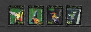 BIRDS - TRINIDAD & TOBAGO #642-45  MNH