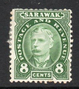 Sarawak 1895 8c green SG 31 mint CV £48