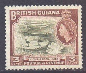 British Guiana Scott 255 - SG333, 1954 Elizabeth II 3c MH*