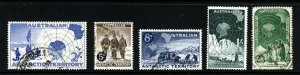 AUSTRALIAN ANTARCTIC TERRITORY 1957-59 The Complete Issues SG 1 to SG 5 VFU