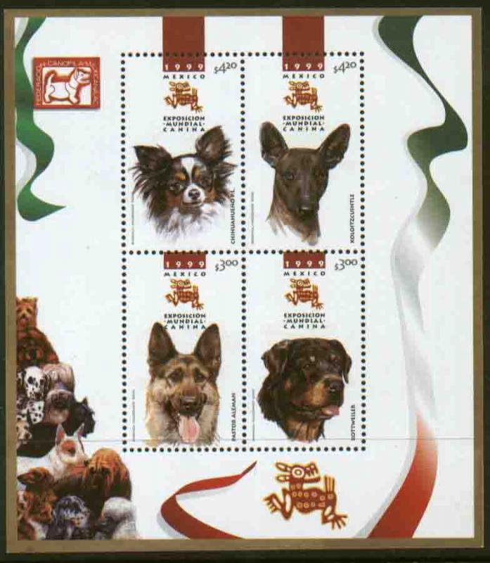 MEXICO 2149, World Dog Show. SOUVENIR SHEET. MINT, NH. VF.