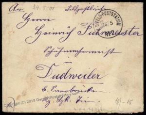 Germany 1901 China Boxer Rebellion FPN7 Paotingfu Feldpost Cover 70587
