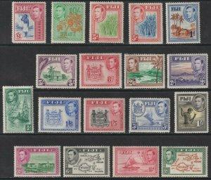 Sc# 117 / 131B 1938 Fiji ML-LMH King George VI portrait complete set CV $212.80