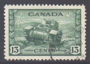 Canada Scott 258 - SG384, 1942 War Effort 13c used