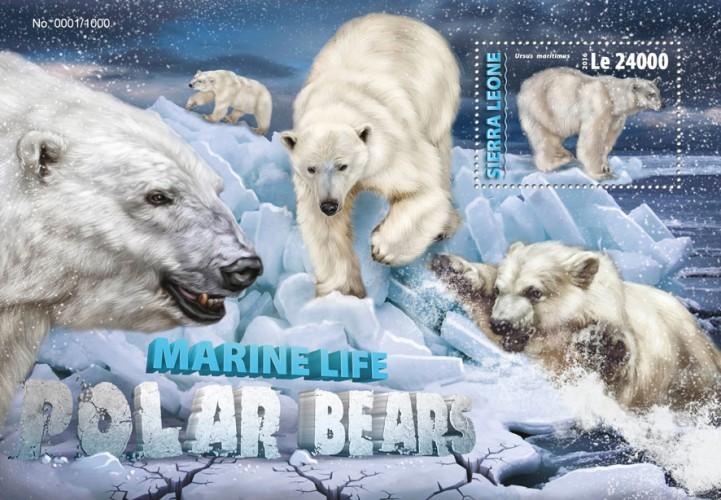 Sierra Leone MNH S/S Polar Bears 2016