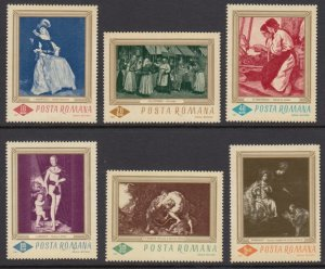 Romania 1907-12 Paintings mnh