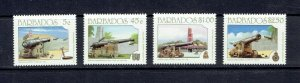 BARBADOS - 1993 - CANNONS - SCOTT 847 TO 850 - MNH