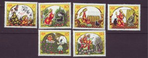 J24507 JLstamps 1984 germany DDR set mnh #2451a-f fairytale