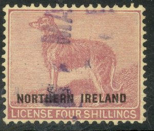 GREAT BRITAIN NORTHERN IRELAND 1921 4sh DOG LICENSE Revenue BFT.1 Used