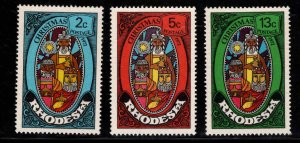 Rhodesia Scott 318-320 MNH** Christmas set