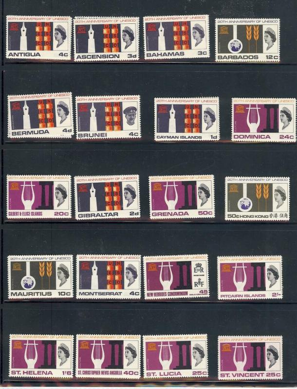 Br.Commonwealth, UNESCO 1966-67, Complete Collection, MNH