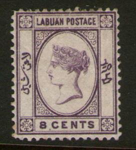 Malaya S. Setts. Labuan 1885 SG 31 MH