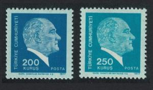 Turkey Kemal Ataturk 2v 1977 MNH SC#2062-2063 SG#2595-2596 MI#2429-2430