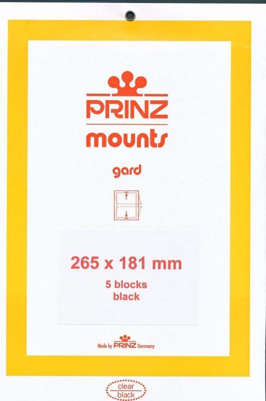 Prinz Scott Stamp Mount 181 / 265 BLACK Background Pack of 5