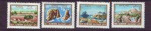 J24062 JLstamps 1966 lebanon part of set mh/mhr #443-4,c491 scenic type