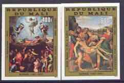 Mali 1983 Easter Paintings set of 2 imperf from limited p...