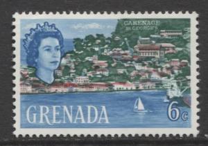 Grenada -Scott 219 -  QEII-Pictorial Issue -1966 - MLH - Single 6c Stamp