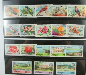 Barbuda Antigua  SC #266-83  FLOWERS BIRDS POTWORKS DAM AIRPORT  MNH stamp set