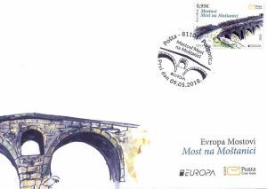 MONTENEGRO / 2018, (FDC) EUROPA CEPT (BRIDGES), MNH