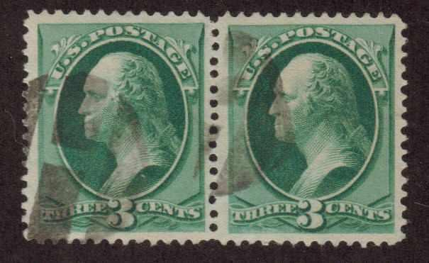 MALACK 158 SUPERB, used pair, nice light cancel, SHOWPIECE! n1835