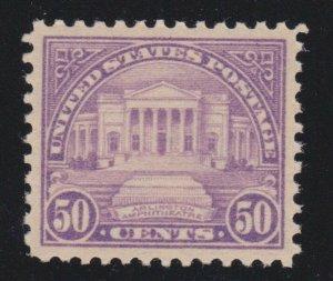 US 570 50c 1922 Issue Mint Superb OG NH w/Graded '98' PSE Cert SMQ $925