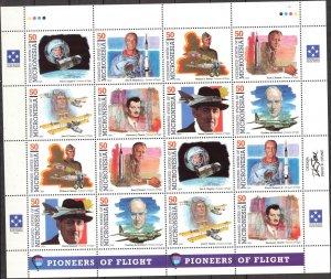Micronesia 1994 Aviation Space Pioneers of Flight ( IV set ) Sheet 2 sets MNH