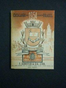 CATALOGO DE 1954 SELOS DO BRASIL by F SCHIFFER