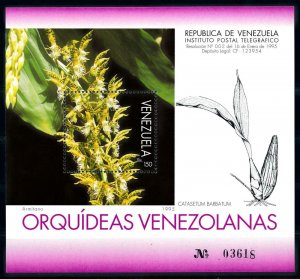 [79955] Venezuela 1995 Flora Flowers Blumen Orchids Souvenir Sheet MNH