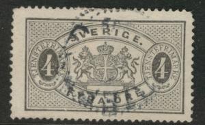 SWEDEN Scott o14 used 1893 official stamp