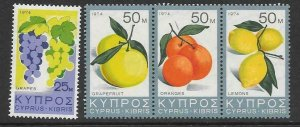 CYPRUS SG419/22 1974 PRODUCTS OF CYPRUS MNH