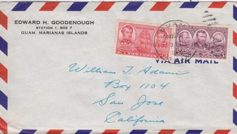 1948, Guam, Marianas Islands to San Jose, CA (23869)