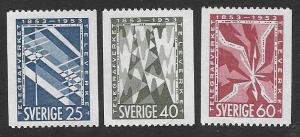 Sweden  Scott  452-454  MNH  Short set