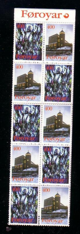 Faore Islands Sc 294a 1995 Church of Mary stamp booklet mint NH