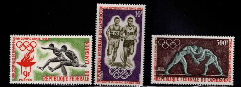 Cameroun Scott 403-404, C49  MNH** Tokyo olympic set of 1964