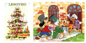 Lesotho, Disney, Worldwide First Day Cover