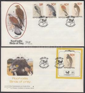South-Africa - Bophuthatswana stamp Birds of prey 2 FDC Cover 1989 WS142792