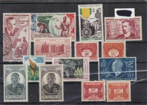 french colonies africa stamps ref 10230