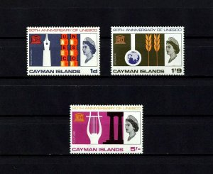 CAYMAN IS - 1966 - QE II - UNESCO - EDUCATION - SCIENCE - CULTURE - MINT NH SET!